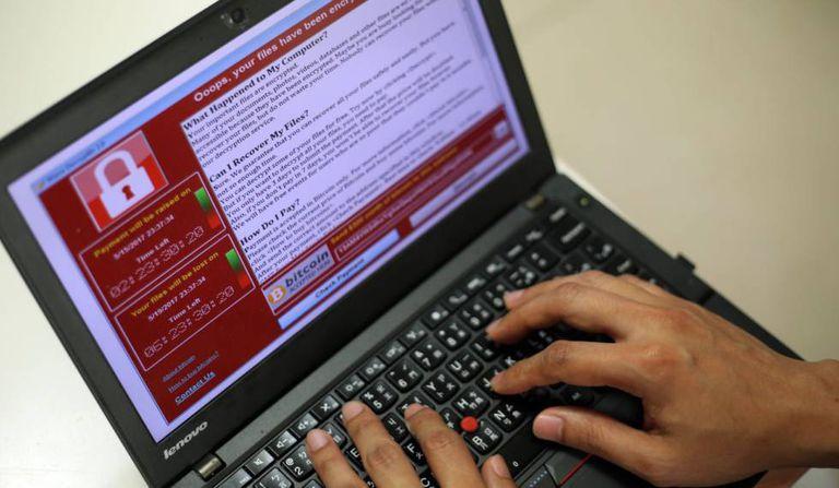 Exemplo do ciberataque em Taipei.