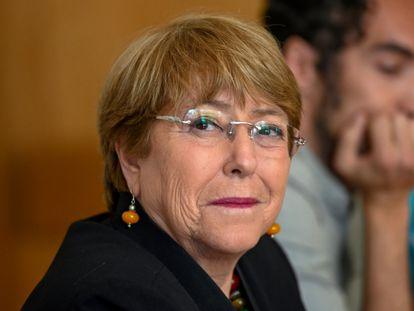 Bachelet, em um evento na Universidade de Lisboa, no ano passado.