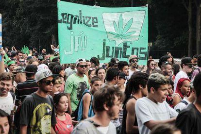 Marcha da Maconha em São Paulo, em maio deste ano.