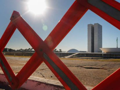 Área destinada ao público ficou vazia durante a votação da denúncia contra o presidente Temer no Congresso.