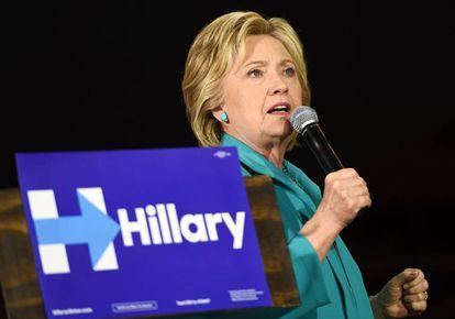 A candidata democrata Hillary Clinton em Los Angeles.