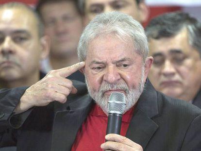 O ex-presidente Lula, na semana passada, ao comentar a condenação pelo juiz Sergio Moro.