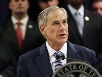 O governador do Texas, Greg Abbott, no domingo.