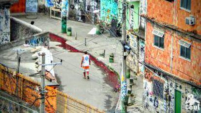 Favela Bandeira Dois, na manhã desta sexta, um dia depois da operação policial no local.