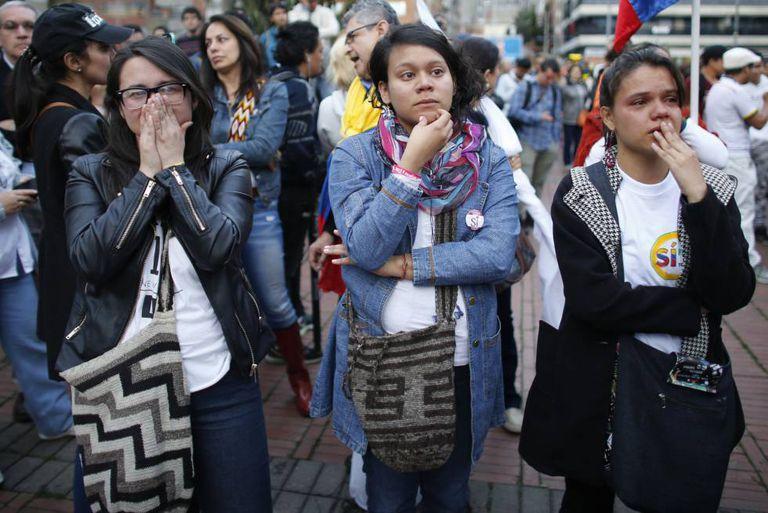 Decepção em Bogotá depois de conhecer-se os resultados.
