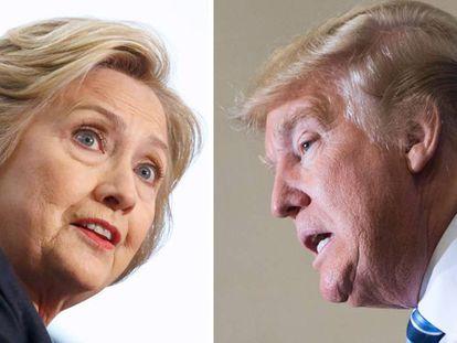 Clinton e Trump serão provavelmente os candidatos presidenciais.