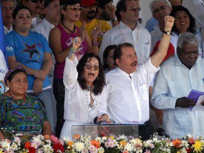 O casal presidencial em Manágua, em 2009.
