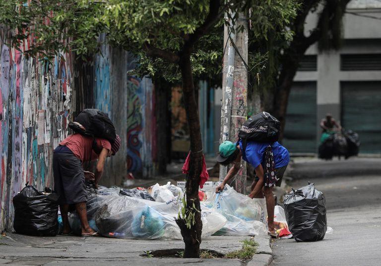 Moradores de rua no Rio de Janeiro.
