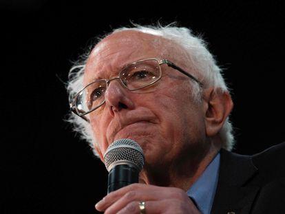 Bernie Sanders, em um evento público no final de fevereiro.