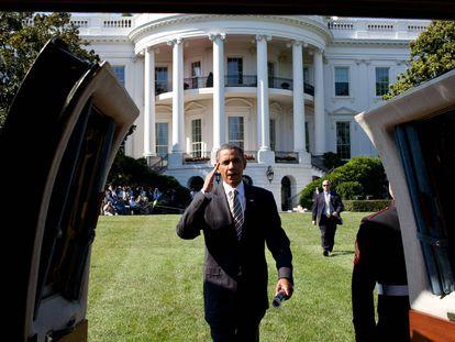 Os dias de Obama na Casa Branca em doze fotos