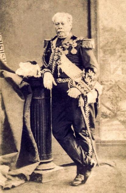 Duque de Caxias, senador e chefe da tropas aliadas na Guerra do Paraguai (imagem: Carneiro, Silva e Tavares)