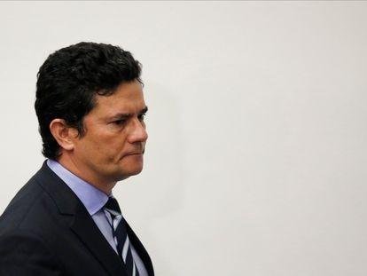 O ex-juiz Sergio Moro, ao anunciar seu pedido de demissão do Ministério da Justiça do Governo Bolsonaro.