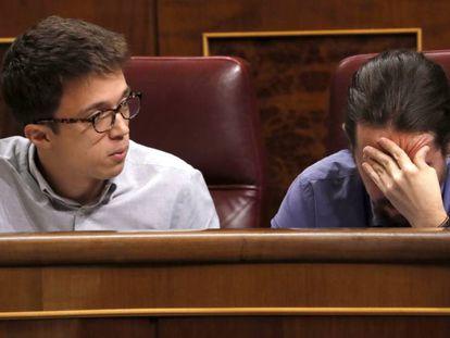 Os líderes do Podemos, Pablo Iglesias e Íñigo Errejón.