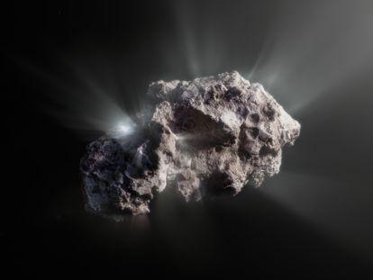 Uma ilustração do aspecto do cometa 2I/Borisov.