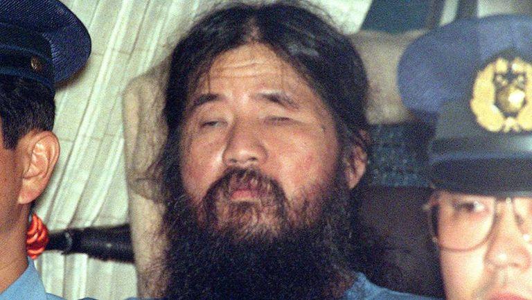 O ex-líder da seita Aum, Shoko Asahara, em 1995.