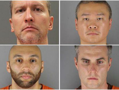 Os ex-policiais de Minneapolis envolvidos na morte de Floyd: Derek Chauvin, Tou Thao, Thomas Lane e J. Alexander Kueng.