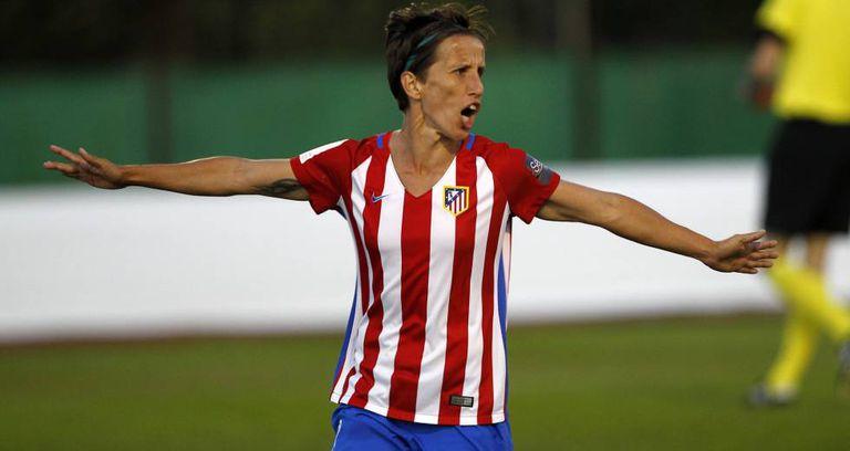 Sonia Bermúdez, em um jogo pelo Atlético.