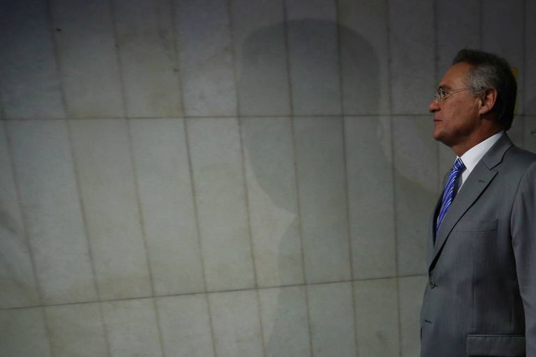 Renan Calheiros, no Senado.