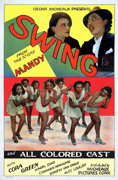 """'Swing', com todo o """"elenco negro"""" (""""all colored cast"""")."""