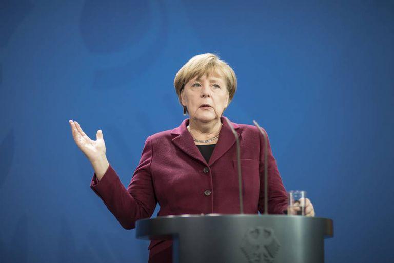 Angela Merkel, em uma recente apresentação à imprensa.