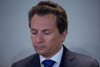 Emilio Lozoya, ex-diretor da petroleira Pemex, durante uma entrevista coletiva em 2017.