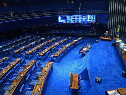 O plenário do Senado vazio nesta quinta-feira.