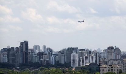 Vista aérea de São Paulo.