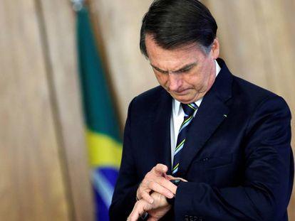 Bolsonaro no dia 4, em Brasília.