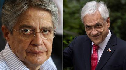 O presidente do Equador, Guillermo Lasso, e seu par chileno, Sebastián Piñera.