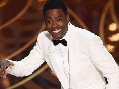 Chris Rock, apresentador do Oscar, durante a cerimônia.