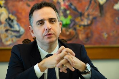 O presidente do Senado, Rodrigo Pacheco (DEM-MG), em fevereiro deste ano.