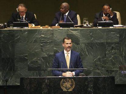 Felipe VI discursa na Assembleia Geral da ONU.