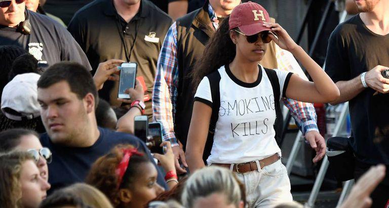 Malia Obama no Festival Budweiser Made in America.