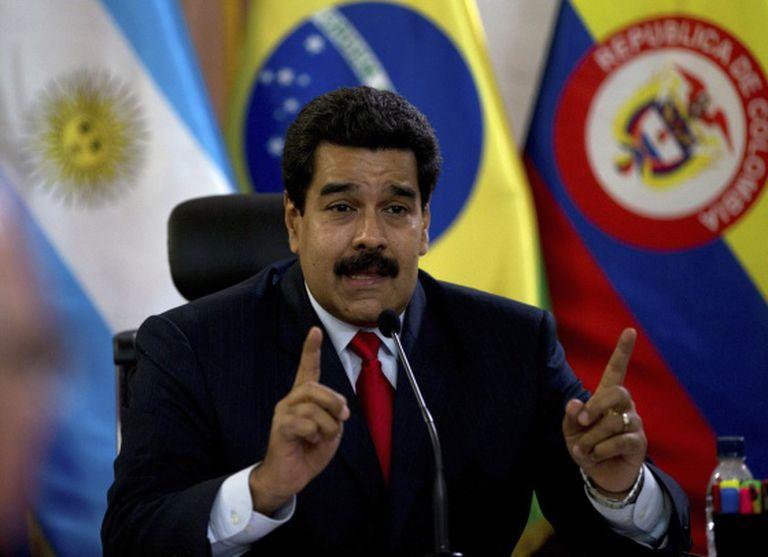 O presidente Nicolás Maduro.