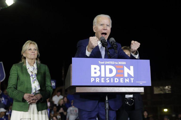Joe Biden nesta terça-feira em Los Angeles, na Califórnia.