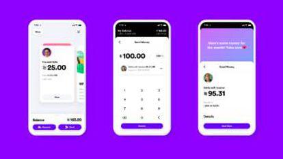 Exemplos de como será a interface da Libra no celular.