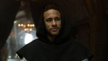 """Neymar atuando em """"La casa de papel""""."""