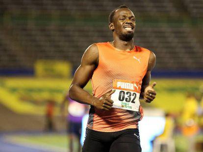 Usain Bolt, nesta sexta-feira em Kingston.