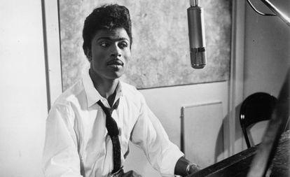 Little Richard, em um estúdio de gravação em 1959.