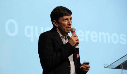 João Amoêdo, presidente do Novo, em palestra.