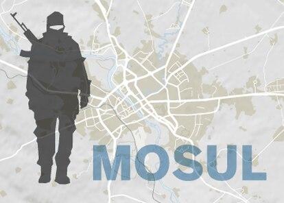 Mapa dos avanços iraquianos contra o Estado Islâmico em Mossul.