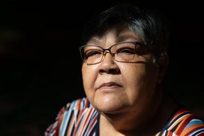 A militante Rosa Cimiana dos Santos, filha do anistiado político Arthur Pereira da Silva.