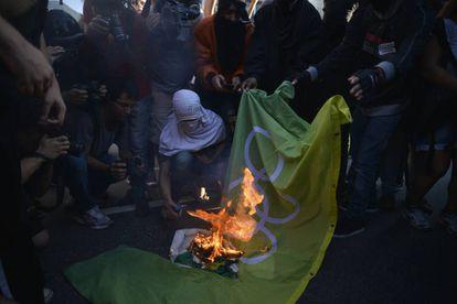Manifestação contra os Jogos Olímpicos nesta sexta, no Rio.
