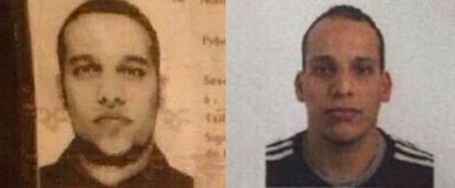 Fotografias dos irmãos Saïd e Chérif.