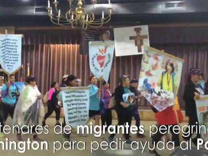 Imigrantes sem documentos em peregrinação a Washington para ver o Papa.