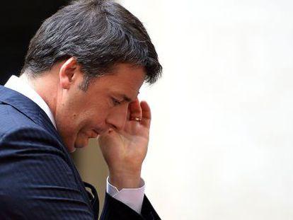 O primeiro-ministro italiano, Matteo Renzi, em Roma.