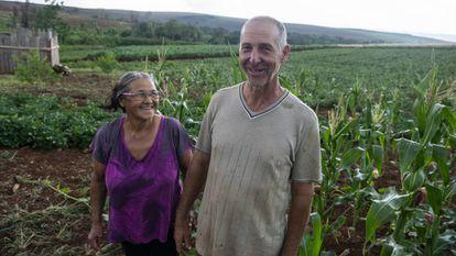 O casal Claudir Antonio e Maria Bee vive um acampamento do MST no Paraná.