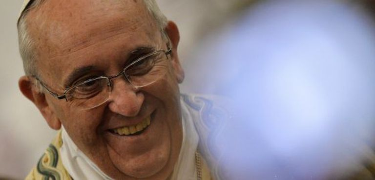 O Papa, durante uma missa na basílica em 25 de janeiro.