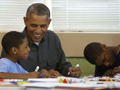 Obama visita um centro infantil em Washington na segunda.