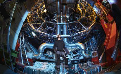 Um dos detectores do LHC, em Genebra (Suíça).